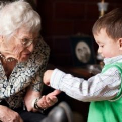 Old lady with grandson