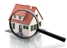 House with magnifying glass