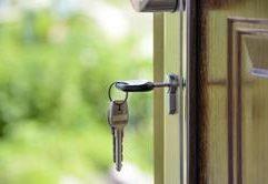 Keys in Home Door