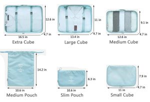 Packing cubes size guide