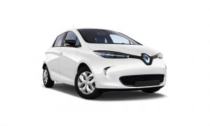 Renault Zoe in white