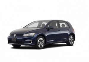 Volkswagen e golf in blue