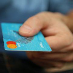 Customer with bank card